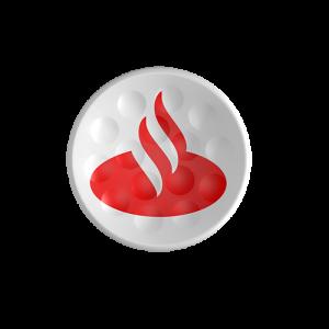 TWiNTEE Santander Consumer Bank golf tee