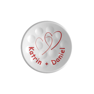 TWiNTEE got married - logo golf tee
