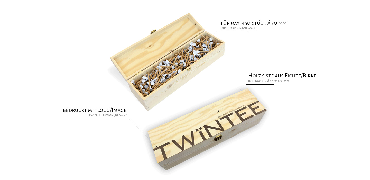 Twintee Design Your Personal Golf Tee